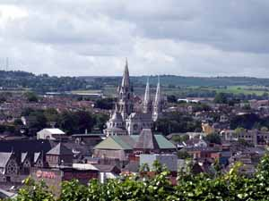 A view of Cork city and Cork Cathedral