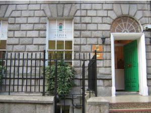 Alpha College Dublin front door - open for business
